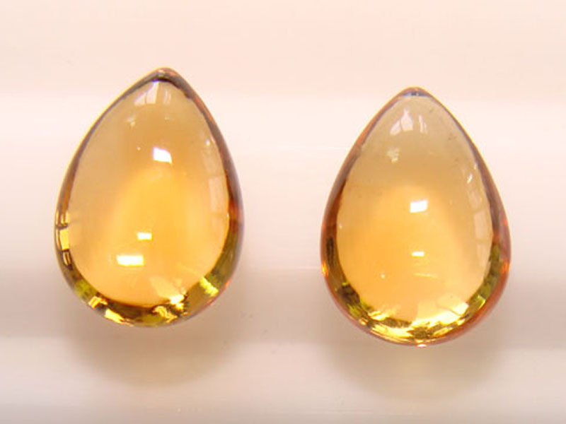 Citrine Briolette Plain Cut