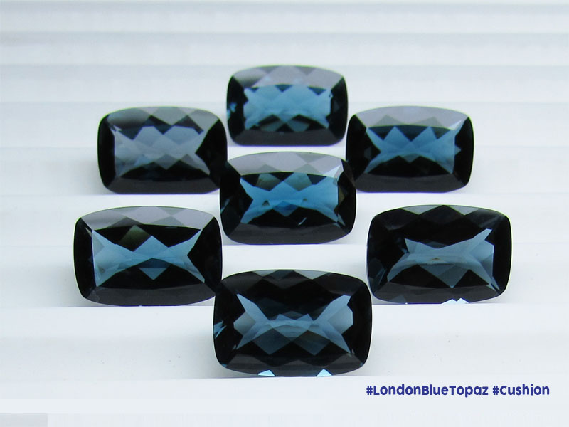 London Blue Topaz Cushions